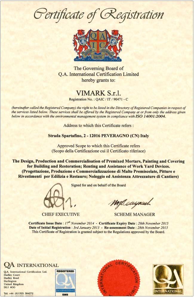 Vimark_ISO14001_2016